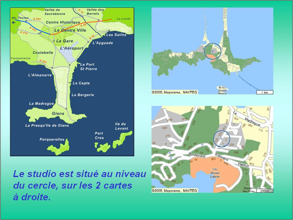 Carte Marine Presqu'ile de Giens Carte de la Presqu'île de